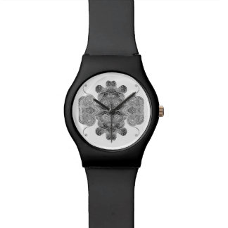 Black dot pattern design wrist watch. watch