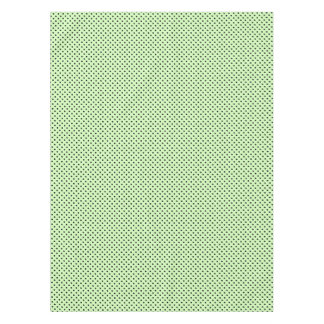 Black Dots on Mint Green Tablecloth