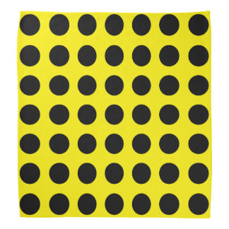 Black Dots on Yellow Bandana