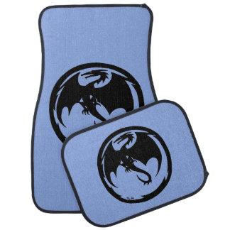 Black Dragon Blue car mats front and rear