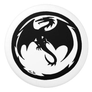 Black Dragon ceramic knob