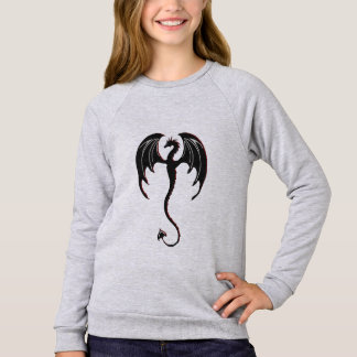 black dragon flying sweatshirt
