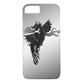 Black Dragon Metal Background iPhone 7 case