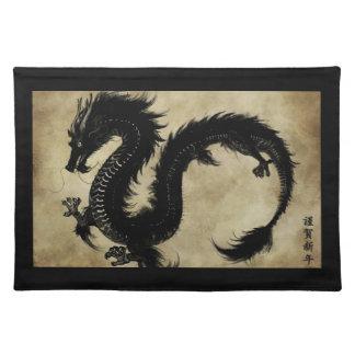 Black Dragon Place Mats