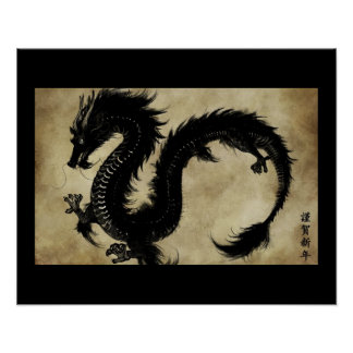 Black Dragon Poster