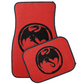 Black Dragon Red car mats front and rear