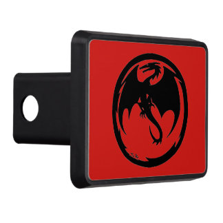 Black Dragon Red hitch cover receiver