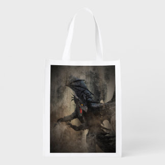 Black Dragon Reusable Grocery Bag