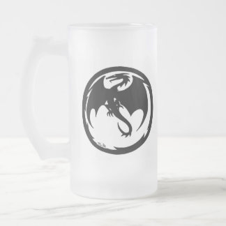 Black Dragon right hand frosted beer mug