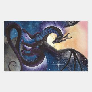 Black Dragon with Night Sky by Carla Morrow Sticker
