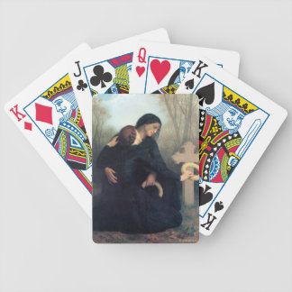 Black dress cross gothic women Bouguereau Bicycle Playing Cards