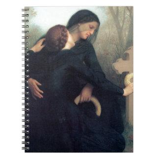 Black dress cross gothic women Bouguereau Notebooks