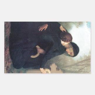 Black dress cross gothic women Bouguereau Sticker