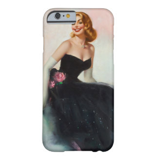 Black Dress Pin Up Art Barely There iPhone 6 Case