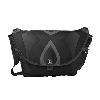 Black drop commuter bags