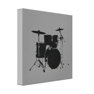 black drums canvas print