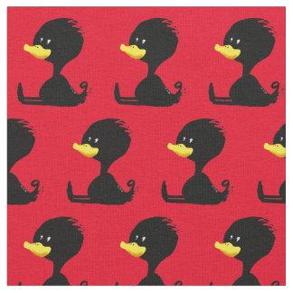 Black ducky fabric
