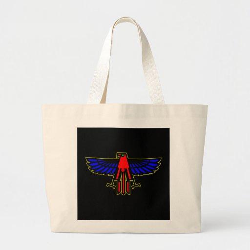 Black Eagle Bird Canvas Bag