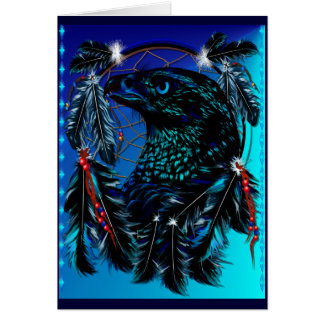 Black Ealge Dreamcatcher  Card