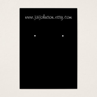 Black Earring Cards Business Cards