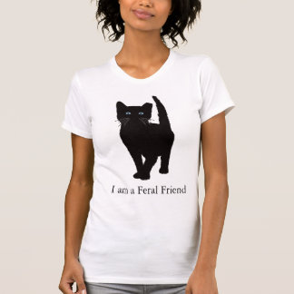Black eartipped cat T shirt