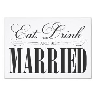 Black Eat, Drink & Be Married | Enclosure Card