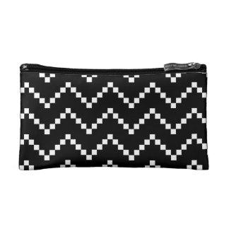Black EB Zigzag Cosmetics Bags