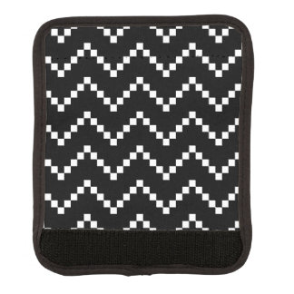 Black EB Zigzag Luggage Handle Wrap