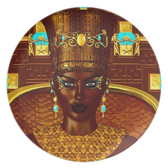 Black Egyptian princess in our modern digital art Plate