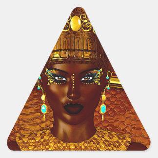 Black Egyptian princess in our modern digital art Triangle Sticker