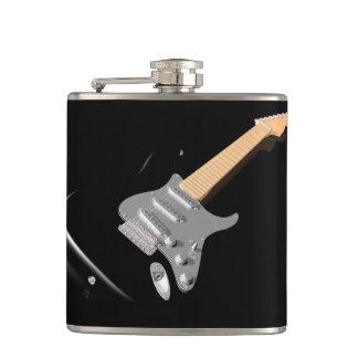 Black Electric Guitar Flask