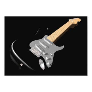 Black Electric Guitar Invitations