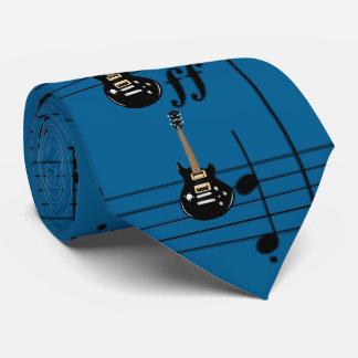 Black Electric Guitars Royal Blue Tie