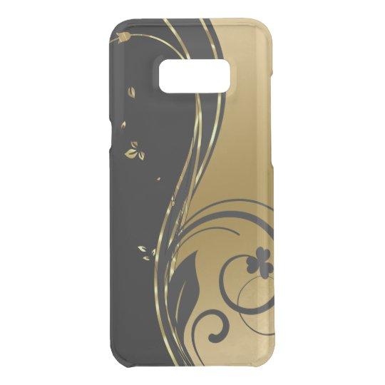 Black & Elegant Gold Floral Swirls Design Get Uncommon Samsung Galaxy S8 Plus Case