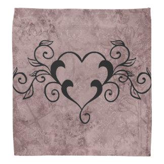 Black Elegant Heart Bandannas