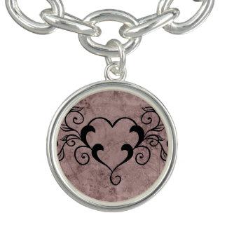 Black Elegant Heart Bracelets