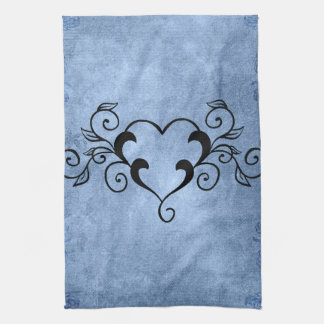Black Elegant Heart Towels