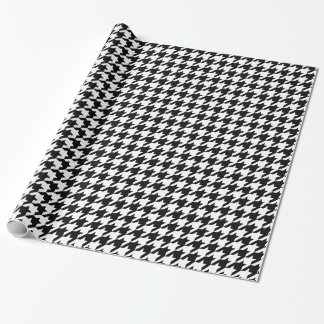 Black Elegant Houndstooth at Emporiomoffa Wrapping Paper