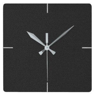 Black Elegant Plain Wall Clock