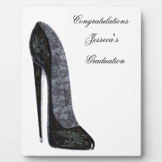 Black Elegant Stiletto High Heel Shoe Art Plaque