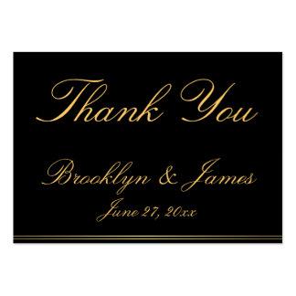 Black Elegant Wedding Favor Tags Business Cards