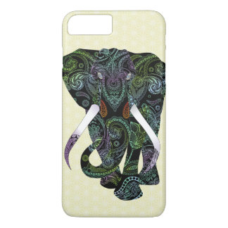 Black Elephant in Paisley Pattern iPhone 7 Plus iPhone 8 Plus/7 Plus Case