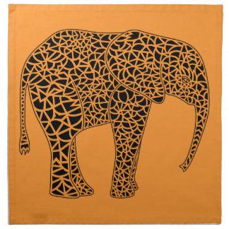 Black Elephant Napkins