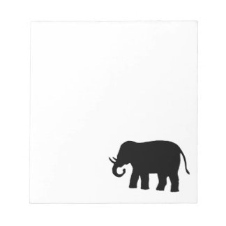 Black Elephant Notepad