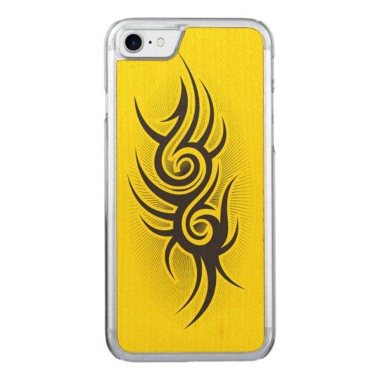 Black Emblem Carved iPhone 7 Case
