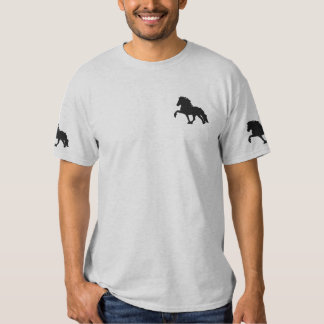 Black Embroidered Icelandic Embroidered T-Shirt
