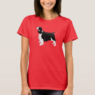 Black English Springer Spaniel Basic Breed T-Shirt