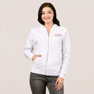 Black enso circle | pink kanji symbol for love hoodie
