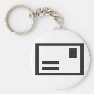 Black Envelope Keychain