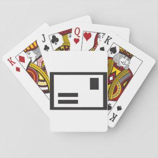 Black Envelope Playing Cards